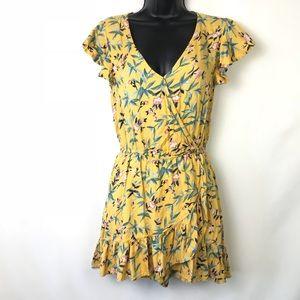 Dresses & Skirts - American Eagle yellow flower print romper